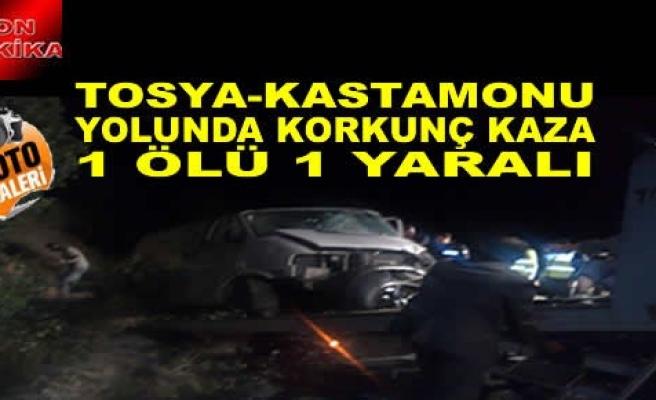 Tosya-Kastamonu Yolunda Trafik Kazası - 1 Ölü -1 Yaralı