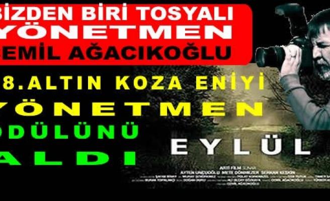 Tosyalı Yönetmen Cemil AĞACIKOĞLU 18.Altın Koza Film'de YILIN YÖNETMENİ seçildi