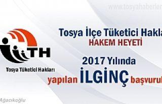 Tosya'da 2017 yılında Tüketici Hakları Başvurusunda...