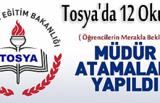 TOSYA'DA 12 OKULA MÜDÜR ATAMASI YAPILDI