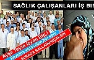 Tosya'da Sağlık Personeli 15 dakika İş Bıraktı