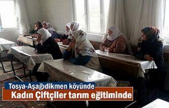 Tosya'da Kadın Çiftçilere tarım ve hayvancılık eğitimi verildi