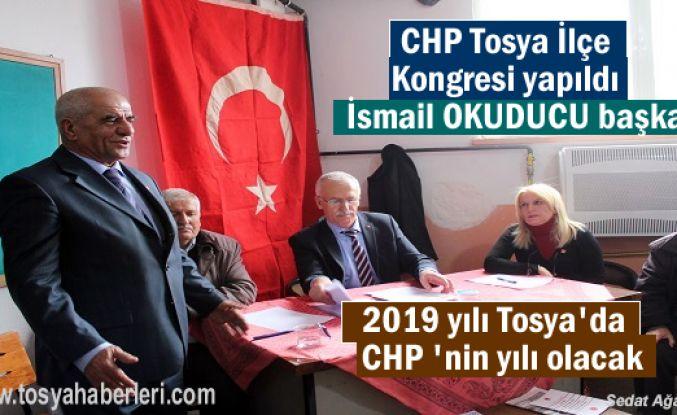 CHP Tosya İlçe Olağan Kongresinde İlçe Başkanlığına İsmail Okuducu seçildi