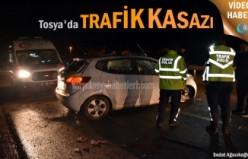 Tosya Trafik Kazası 2 kardeş yaralandı