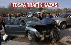 Tosya Trafik Kazası 1 ölü 1 ağır yaralı
