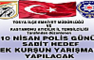 10 NİSAN POLİS GÜNÜ 50 m. SABİT HEDEF TEK KURŞUN...