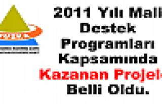 2011 Yılı Mali Destek Programları Kapsamında Kazanan...