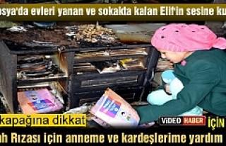 TOSYA'DA EVLERİ YANAN ANNE VE ÇOCUKLARI SOKAKTA...