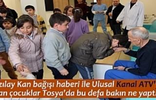 Fevzipaşa İlkokulu öğrencileri Tosya Huzurevini...
