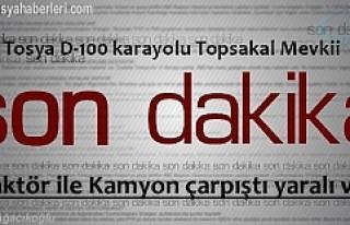 TOPSAKAL MEVKİİNDE TRAFİK KAZASI