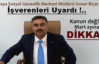 Tosya Sosyal Güvenlik Merkezi Müdürü ''Sigorta...
