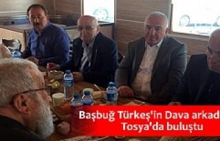 BAŞBUĞ TÜRKEŞ'İN DAVA ARKADAŞLARI TOSYA'DA...