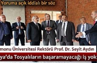 Kastamonu Üniversitesi Rektörü Tosya'ya Devrez...