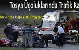 TOSYA'DA 1 KİŞİ MOTOSİKLET İLE KAFA ÜSTÜ...