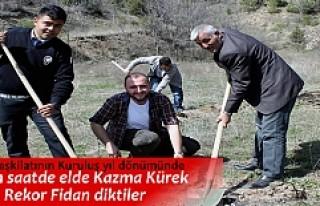 TOSYA'DA POLİS HAFTASI 171 FİDAN DİKİMİ İLE...