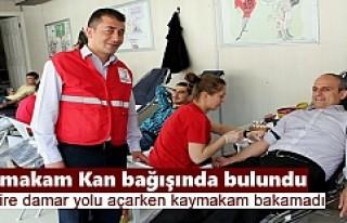 Kızılayın Kan Bağışı Kampanyasına Kaymakam...