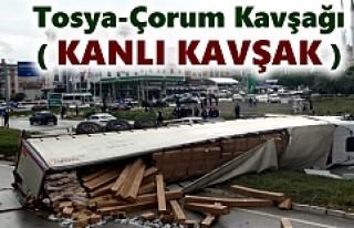 TOSYA D-100 KARAYOLUNUDA TIR KAZASI