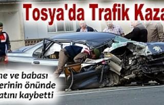 TOSYA'DA FECİ TRAFİK KAZASI 2 ÖLÜ 2 AĞIR...