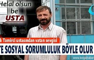 TOSYA'LI TAMİRCİ USTASINDAN ÖRNEK DAVRANIŞ
