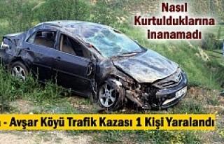 TOSYA'DA TRAFİK KAZASINDA 1 KİŞİ AĞIR YARALANDI