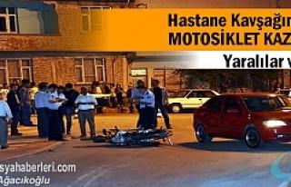 TOSYA HASTANE KAVŞAĞINDA MOTOSİKLET KAZASI