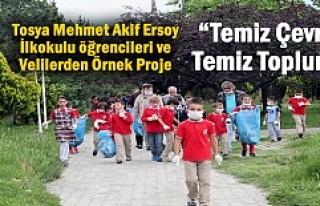 TOSYA'DA ÖĞRENCİLERDEN ÖRNEK PROJE ''TEMİZ...
