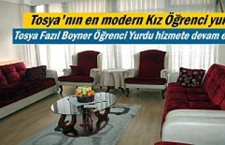 Tosya Fazıl Boyner Öğrenci Yurdu hizmete devam...
