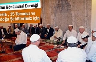 Tosya'da Şehitler için Mevlit Okundu