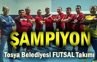 Tosya Futsal turnuvasında Tosya Belediyespor şampiyon...
