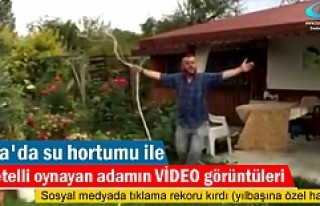 Tosya'da Su Hortumu ile Çiftetelli Oynayan Adam...