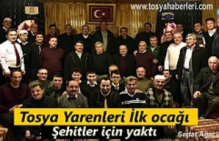 Tosya'da Yaren Meclisi ilk ocağı Şehitler için...
