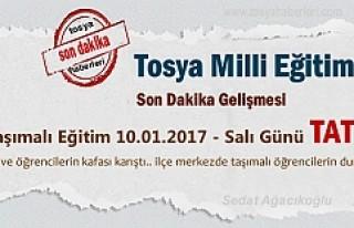 Tosya'da 10.01.2017 Salı günü Taşımalı...