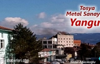 Tosya Metal Sanayide Yangın Tehlikesi