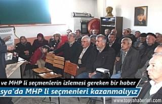 Tosya'da Referandum 'da Hayır diyecek MHP'li...