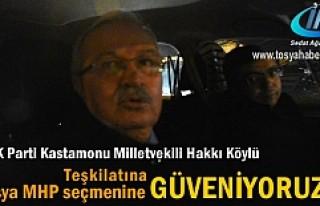 Hakkı Köylü ''MHP seçmenine güveniyoruz...