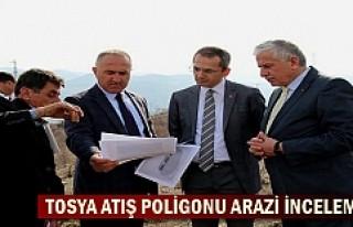 Tosya Trap Atış Poligonu arazisinde Bakanlık yetkilileri...