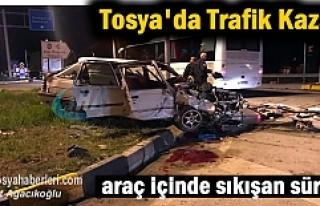 Tosya-Çankırı Kavşağında Korkunç Trafik Kazası
