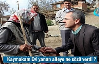 Tosya Kaymakamı Referandum günü Evi yanan aileye...