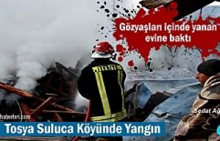 Tosya-Suluca Köyünde Yangın ( GÖRÜNTÜLÜ HABER...