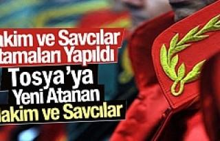 Tosya'ya Hakim ve Savcı Ataması yapıldı