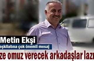 AK Parti ilçe Başkanı Metin Ekşi 10 Eylül öncesi...
