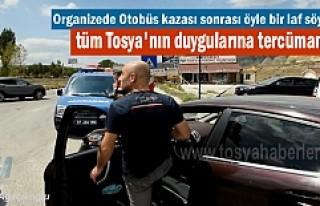 Tosya'da Otobüs Kazası sonrası vatandaşın...
