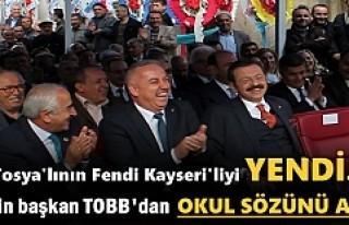 TOBB Başkanın Rifat Hisarcıklıoğlu'ndan Tosya'ya...