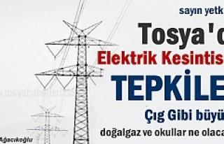 TOSYA'DA ELEKTRİK KESİNTİSİNE TEPKİLER ÇIĞ...