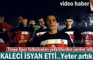 TOSYA SPOR ANTREMANINDA KALECİ İSYAN ETTİ ''YETKİLİLER...