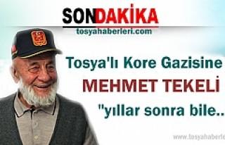 TOSYALI KORE GAZİSİ MEHMET TEKELİ'YE ANLAMLI...