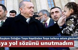 Cumhurbaşkanı Erdoğan'da Tosyaya Selam ''Tosya...