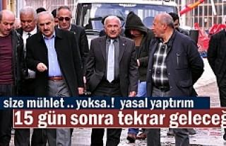 BAŞKAN ŞAHİN'DEN HURDACI ESNAFA UYARI 15 GÜN...