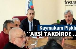 Tosya Kaymakamlığında Dipsiz Göl tartışıldı