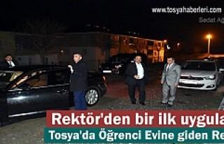 Üniversite Rektörü Tosya'da Öğrenci evi...